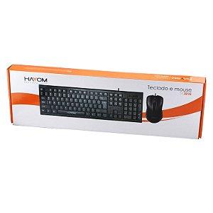 Kit Teclado e Mouse Com Fio - Hayom TC3216