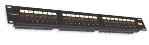 Patch Panel Cat5e 24 portas Preto  PPC5E-BK