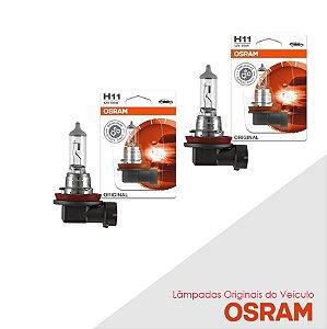 Lâmpada Nissan X-terra H11 Farol Baixo Original Osram - Par