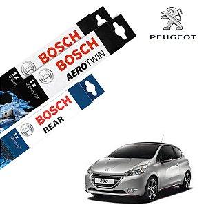 Palheta Limpador Parabrisa Diant+Tras 208 2013-2016 Bosch