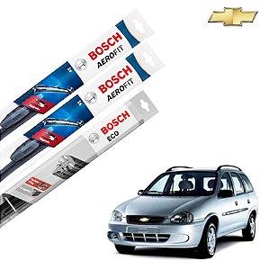 Palheta Limpador Parabrisa Diant+Tras Corsa Wagon 1996-2002
