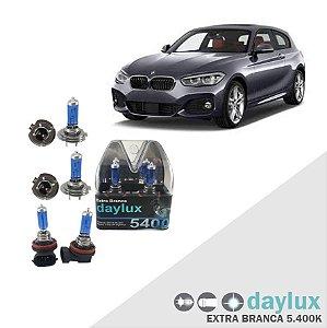 Lâmpadas Super Branca BMW 120i 05-16 Farol Alto Baixo milha
