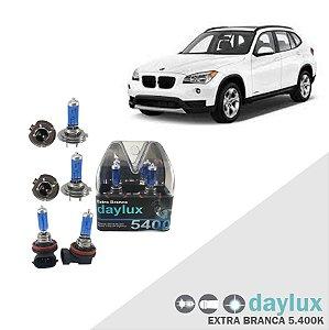 Lâmpadas Super Branca BMW X1 10-16 Farol Alto Baixo e milha