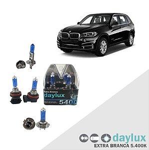 Lâmpadas Super Branca BMW X5 03-16 Farol Alto Baixo e milha
