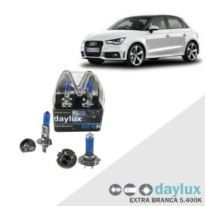 Kit Lâmpadas Super Branca Audi A1 10-13 Farol Alto e Baixo