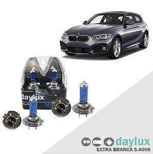 Kit Lâmpadas Super Branca BMW 120i 05-16 Farol Alto e Baixo