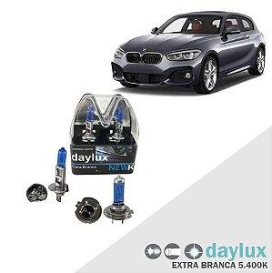 Kit Lâmpadas Super Branca BMW 320i 10-13 Farol Alto e Baixo