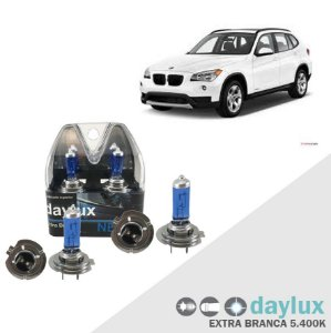Kit Lâmpadas Super Branca BMW X1 10-16 Farol Alto e Baixo