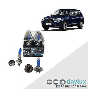 Kit Lâmpadas Super Branca BMW X3 04-16 Farol Alto e Baixo