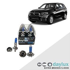 Kit Lâmpadas Super Branca BMW X5 03-16 Farol Alto e Baixo