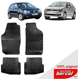 Tapete Borracha Polo Sedan  Original Borcol 4 peças
