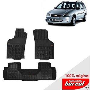 Tapete Borracha Corsa Wagon 94-01 Original Borcol 3 peças