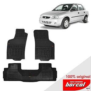 Tapete Borracha Corsa Sedan  94-01 Original Borcol 3 peças