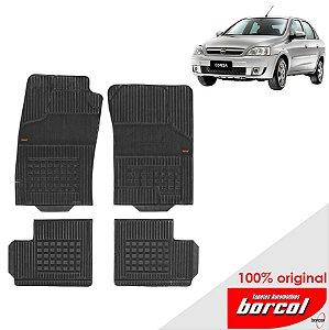 Tapete Borracha Corsa Sedan  02-12 Original Borcol 4 peças