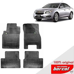 Tapete Borracha Cruze Sedan Original Borcol 4 peças