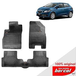 Tapete Borracha Onix 13-17 Original Borcol 3 peças