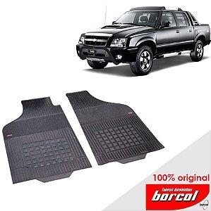 Tapete Borracha S-10  até 2012 Original Borcol 2 peças