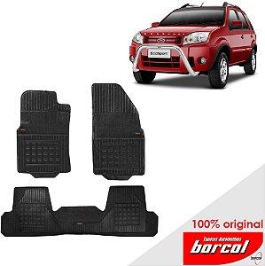 Tapete Borracha Eco Sport 03-11 Original Borcol 3 peças