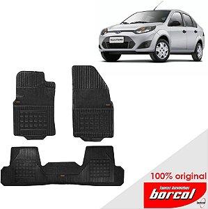 Tapete Borracha Fiesta Sedan 03-12 Original Borcol 3 peças