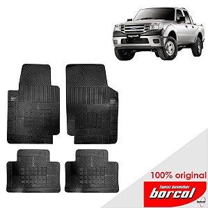 Tapete Borracha Ranger Cab dupla  12-16 Orig. Borcol 4 peças