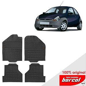 Tapete Borracha Ka 08-11 Original Borcol 4 peças