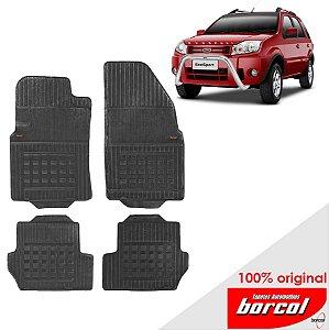 Tapete Borracha Eco Sport 03-12 Original Borcol 4 peças