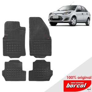Tapete Borracha Fiesta Sedan  03-12 Original Borcol 4 peças
