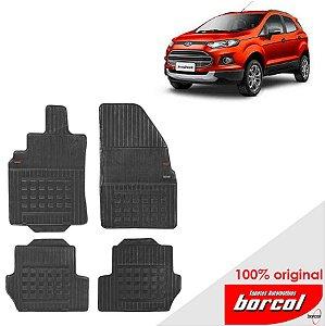 Tapete Borracha Nova Eco Sport 13-17 Original Borcol 4 peças
