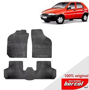Tapete Borracha Palio fire 96-00 Original Borcol 3 peças
