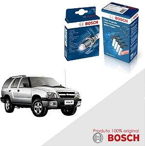 Kit Jogo Cabo+Velas Bosch Blazer 2.4 8v SOHC MPFI Gas 00-12