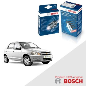 Kit Jogo Cabo+Velas Bosch Celta 1.0 8v SOHC MPFI Gas 00-02