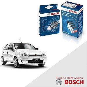 Kit Jogo Cabo+Velas Original Bosch Corsa 1.4 8v Flex 07-12