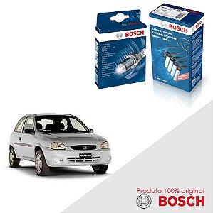 Kit Jogo Cabo+Velas Bosch Corsa 1.6 8v SOHC MPFI Gas 96-02
