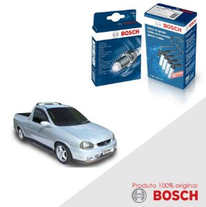 Kit Jogo Cabo+Velas Bosch Corsa Pick-up 1.6 8v Gas 95-03