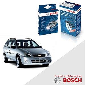 Kit Jogo Cabo+Velas Corsa Wagon 1.6 8v SOHC MPFI Gas 97-02