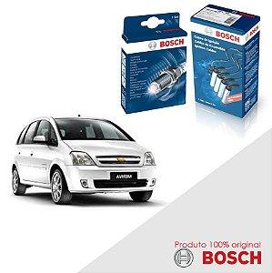 Kit Jogo Cabo+Velas Bosch Meriva 1.8 8v Flexpower Flex 03-12