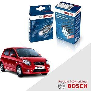 Kit Jogo Cabo+Velas Orig Bosch Picanto 1.0 e 1.1 Gas 04-11