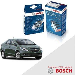 Kit Jogo Cabo+Velas Original Bosch Prisma 1.0  Flex 13-17