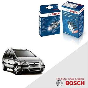 Kit Jogo Cabo+Velas Bosch Zafira 2.0 16V DOHC SFI Gas 01-05