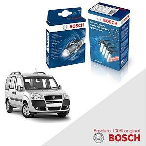 Kit Jogo Cabo+Velas Orig Bosch Doblo 1.3 16v Fire Gas 01-06
