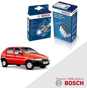 Kit Jogo Cabo+Velas Bosch Palio G1 1.5 8v Fiasa Gas 96-99