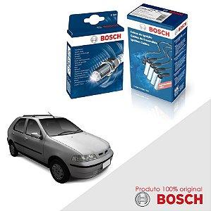 Kit Jogo Cabo+Velas Bosch Palio G2 1.0 8v Fire Gas 03-05