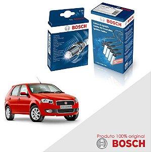 Kit Jogo Cabo+Velas Bosch Palio G4 1.4 8v Fire Flex 11-17