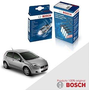 Kit Jogo Cabo+Velas Bosch Punto 1.8 8v Powertrain Flex 07-10