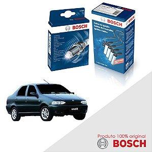 Kit Jogo Cabo+Velas Bosch Siena G1 1.0 8v Fiasa Gas 99-00