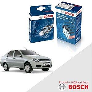 Kit Jogo Cabo+Velas Bosch Siena G3 1.0 8v Fire Flex 07-12