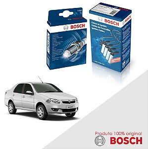 Kit Jogo Cabo+Velas Bosch Siena G4 1.4 8v Fire Flex 12-17