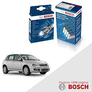 Kit Jogo Cabo+Velas Bosch Stilo 1.8 8v Powertrain Gas 02-05