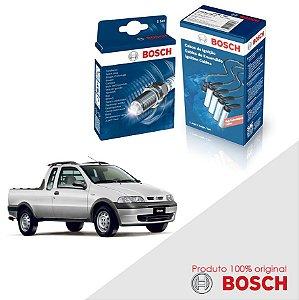 Kit Jogo Cabo+Velas Bosch Strada G1 1.5 8v Fiasa Alc 99-04