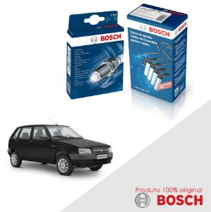 Kit Jogo Cabo+Velas Original Bosch Uno G1 1.5 8v  Alc 91-93